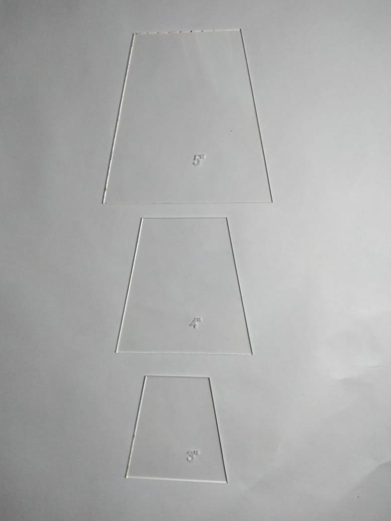 Régua Patchwork - Gabarito para Patchwork Tumbler