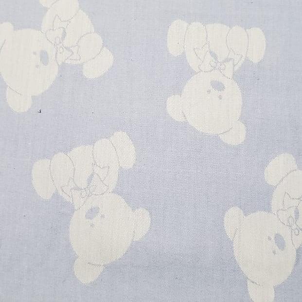 Tecido Urso fundo Azul - Fernando Maluhy