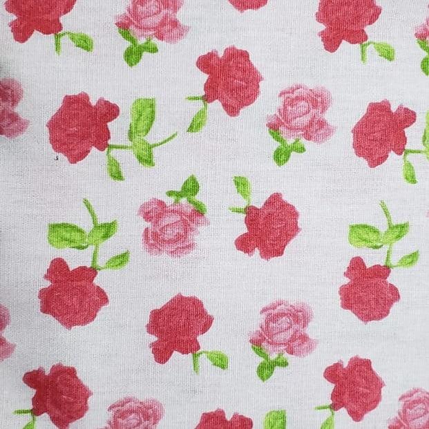 Tricoline - Flor Rosa Média - Coleção Roses - Fernando Maluhy