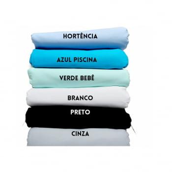 Tecido tricoline liso - cor azul piscina - 2,20 cm  largura - Fernando Maluhy