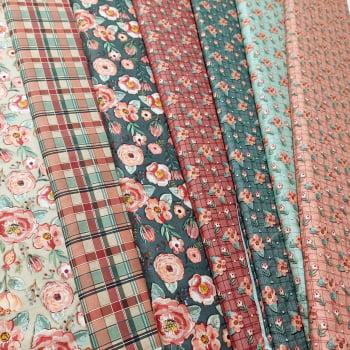 Tecido -  tricoline digital mini floral sweet menta - Coleção Requinte - Fuxicos e Fricotes
