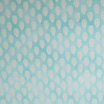 Tricoline - Folhinhas - Fundo Tiffany - Fabricart