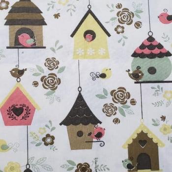 Tricoline - Casa de Passarinho Amarelo - Fabricart