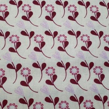 Tricoline - Floral Rosa - Fabricart