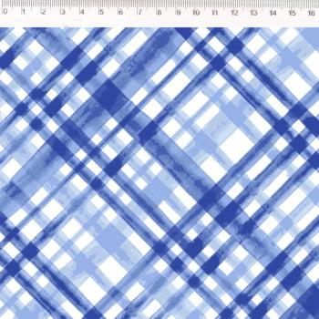 Sarja - Coleção Põe Na Mesa Decor - Xadrez azul - Fernando Maluhy