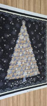 Painel Árvore Preto Natal - Importado