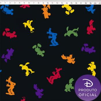 Tecido Tricoline NP Disney Contornos coloridos  Mickey - Fernando Maluhy
