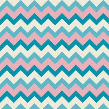 Chevron tons de azul - Coleção Signature Shabby - Fabricart