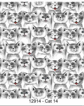 Coleção Cat Lovers - gato cinza - gatos - Fabricart