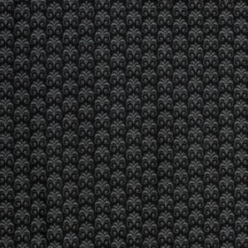 Tricoline - Arabescos - fundo preto - Importado