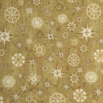 Tricoline - Enfeites de Natal - estrelas - fundo bege - Natal - Importado