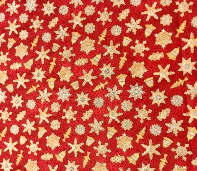 Tricoline - Estrelas e sinos - Enfeites de Natal - Importado