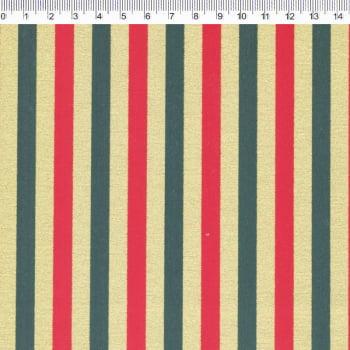 Tricoline - Listrado verde e vermelho - Coleção de Natal - Fernando Maluhy