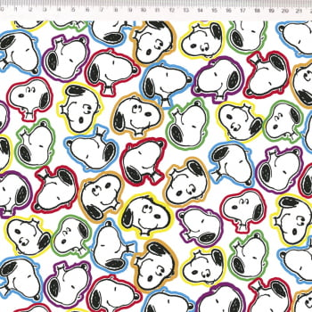 Snoopy rostos coloridos fundo branco – Fernando Maluhy