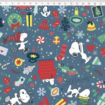 tecido tricoline Coleção Snoopy Natal 2021  - Fernando Maluhy