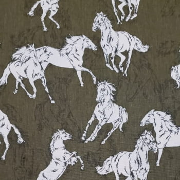 Tecido Tricoline Fernando Maluhy - Cavalos