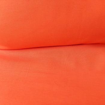 Tecido tricoline liso - cor laranja - 2,20 cm  largura - Fernando Maluhy
