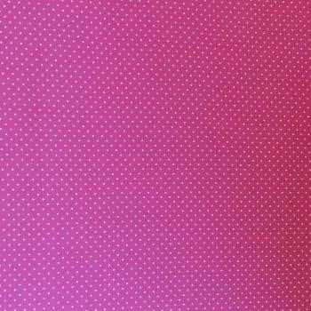 Tecido tricoline - micro poá branco - fundo rosa pink - Fernando Maluhy        -