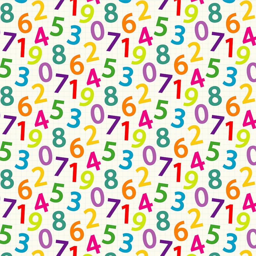 Tricoline - Números Coloridos - Coleção Escolar - Fabricart