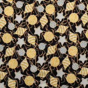 Tricoline - Enfeites de Natal fundo preto - Natal - Importado