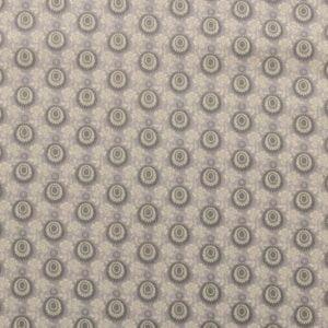 Tricoline - Textura - círculos - fundo bege - Importado