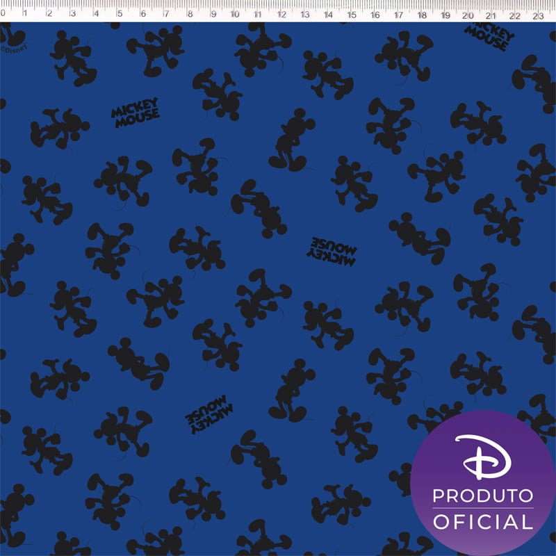 Tecido Tricoline NP Disney  Mickey Silhueta - Fernando Maluhy