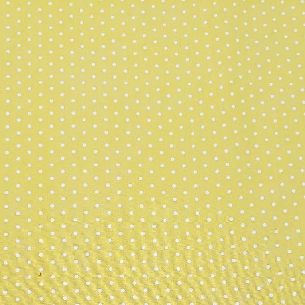 Tecido Poá Branco Fundo Amarelo - Fernando Maluhy