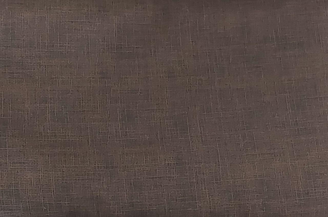 Tecido tricoline - textura marrom  chocolate - Otimotex