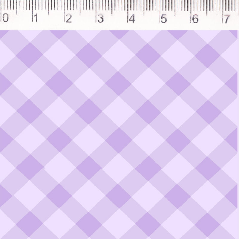 Tecido tricoline - xadrez enviesado - lilás - Fernando Maluhy